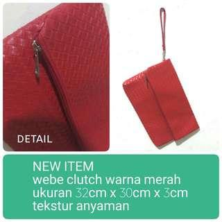 New Item Clutch Webe Red