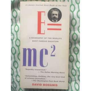 (Free Shipping w/in MM) E=mc^2: A Biography of the World's Most Famous Equation, David Bodanis, A Library Journal Best Book of the Year