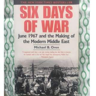 (Free Shipping w/in MM) Six Days of War: 1967 and the Making of the Modern Middle East, Michael Oren, New York Time Bestseller