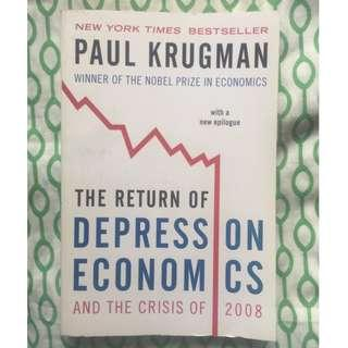 (Free Shipping w/in MM) The Return of Depression Economics and the Crisis of 2008, Paul Krugman, Nobel Prize for Economics, New York Best seller,