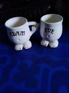 Adam & Eve Hand in Hand cups