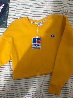 russell x general pants co yellow cropped jumper