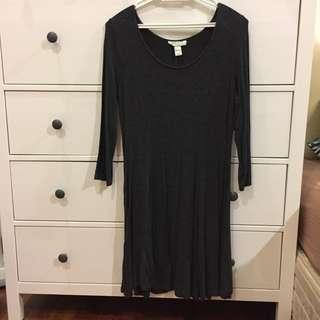 F21 Long Sleeve Skater Dress