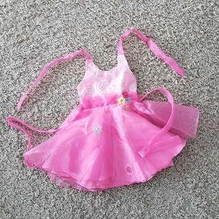 Pink girl party dress for 2 years old