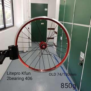 Litepro Kfun 406 20inch 2bearing Wheelset