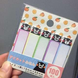 熊本熊便條貼 memo 日本返
