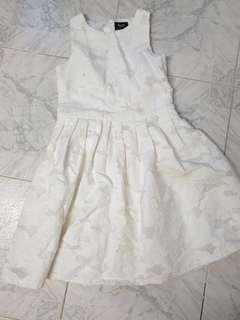 Bardot white girls dress