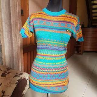 Knit Wear Top semi dress rajut (suitable for kids) atau dewasa ukuran S