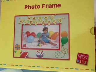Russ birthday kids photo frame