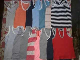 12pcs sando For girl & boy. size 3 to 6 years old. and 1 to 2 years old.