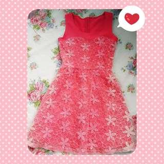 Pink Floral Pattern Lace