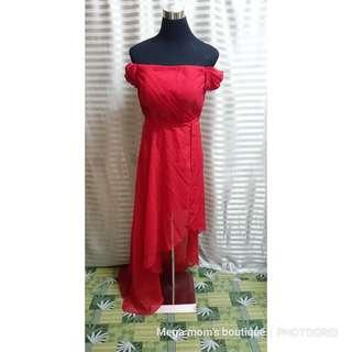 For rent: red cocktail dress