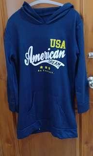 Sweater hoodie American navy