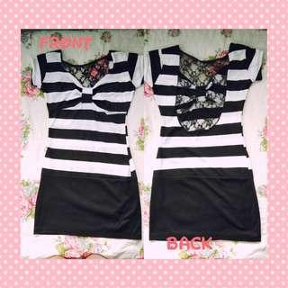 Stripe Cocktail Dress