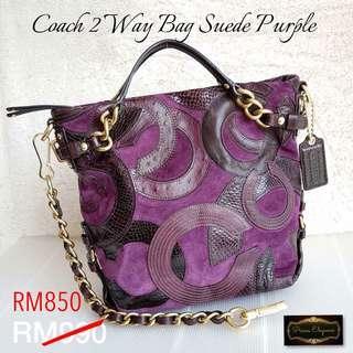 Coach 2 Way Bag Suede