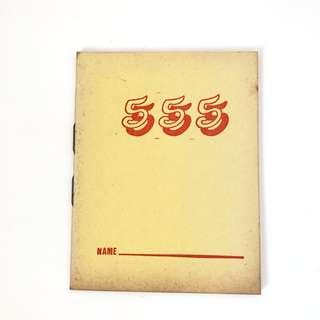 Vintage yellow 777 lined notebook stationery
