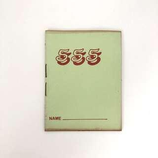 Vintage green 777 lined notebook stationery