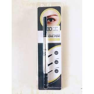 Miniso 3 in 1 eyebrow pencil + eyebrow powder + eyebrow gel (grey)