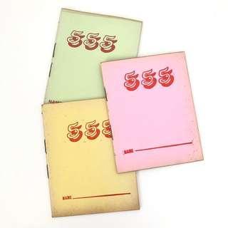 Vintage pink 777 lined notebook stationery
