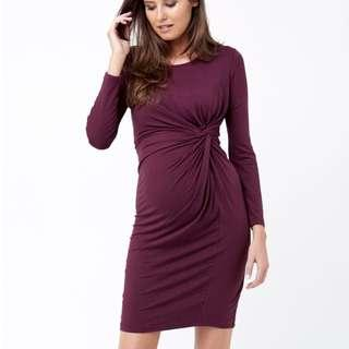 Side Knot Jersey Dress