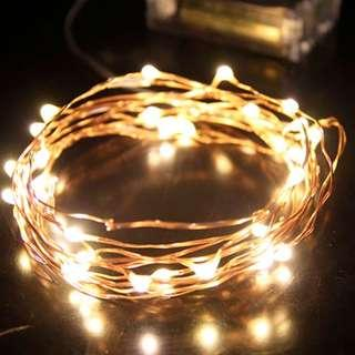 5M 50 LED Copper/Silver Wire Battery Operated Fairy Lights