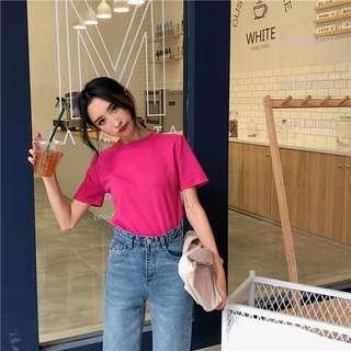 Pink t-shirt top