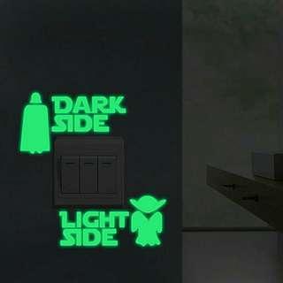 Glow in the Dark Star Wars Sticker