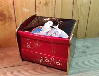 🚚 仿日式漆器珠寶音樂盒—古物舊貨