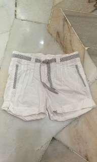 Pumpkin patch gitl white adjustable bermuda shorts 5T