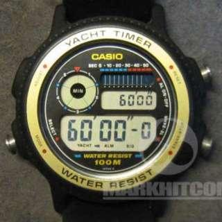 CASIO Yacht Timer TRW-31 Module 932 WATER RESIST 100M Watch MADE IN JAPAN
