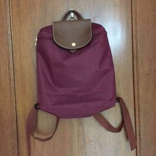 Authentic longchamp bagpack