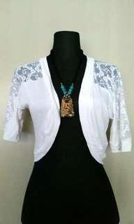 (S) Koton White Lace Bolero