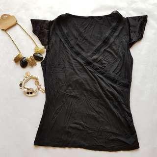 🆕️ Plain Black V Neck Top #OCT10 #H&M50