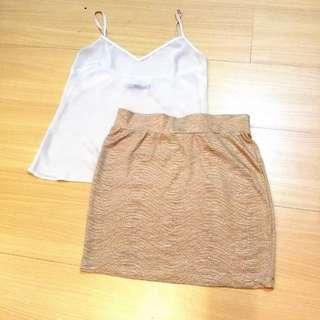 Golden Fish Scale Skirt 🧡💛