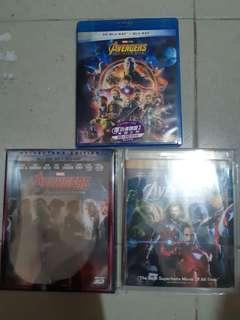 復仇者聯盟 1,2,3集 3D+2D 藍光 Avengers Blu Ray 行版 中文字幕 不散賣