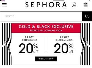 (NO SERVICE CHARGE) Sephora 20% OFF SALE
