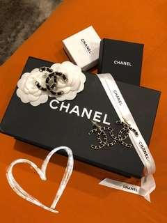 Authentic Large CC Chanel Brooch & Earing