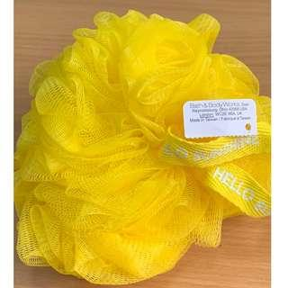 Bath & Body Works Yellow Mesh Shower Sponge (Authentic)