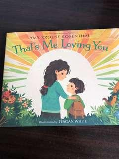 New hardcover That's Me Loving You children's book