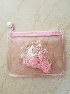 🚚 Pink translucent pouch