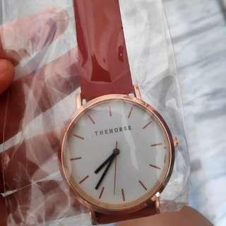 🚚 New in packaging thehorse leather watch unisex