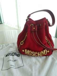 100%Real & 80%New Moschino Small Bucket Bag水桶袋