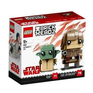 <DEREK> Lego BrickHeadz Luke Skywalker and Yoda 41627