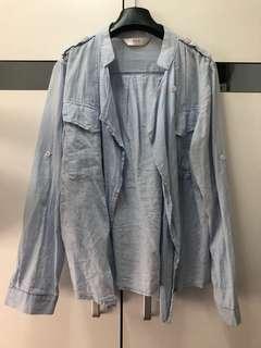 藍色 薄外套