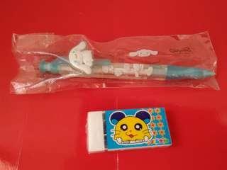 舊物----正版玉貴狗鉛芯筆及哈姆太朗膠擦/Cinnamoroll Refill pencil & 八厶太朗Eraser