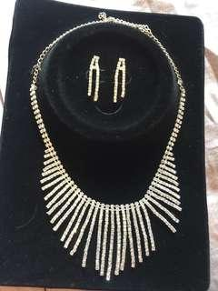 Necklace & Earring dinner or wedding set
