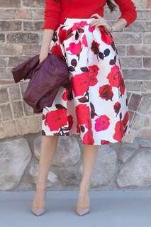 NWT Brand New With Tags  Chicwish ladies skirt size S floral wedding party