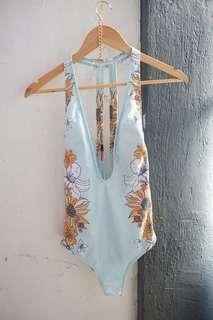 Low Neck One Piece SwimSuit