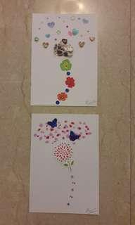 handmade card flower
