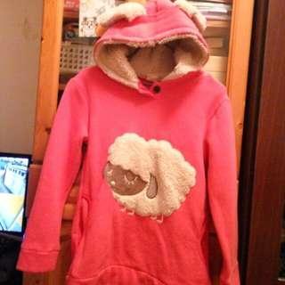 [清貨優惠]粉紅綿羊冬季女童裙